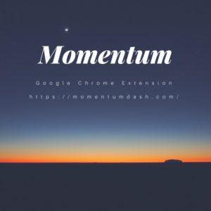 Momentum, Google Chrome, Extension