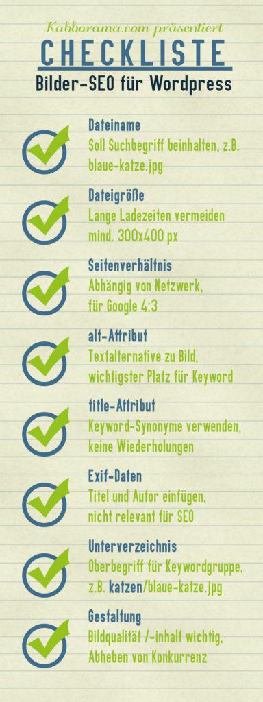 Checkliste Bilder-SEO