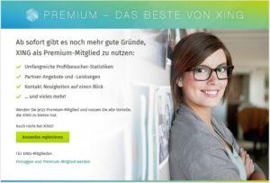 Screenshot: Premium - Das beste von XING